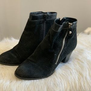 Style & Co. black suede boots size 8M